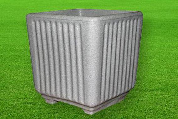 Quadrato rigato color pietra cemento da 38, 50 cm in resina