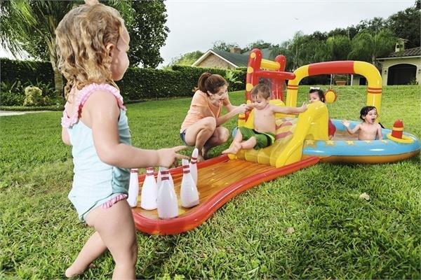 Playground piscina gonfiabile Sport piccolo campione 435x213x h 117 cm con giochi