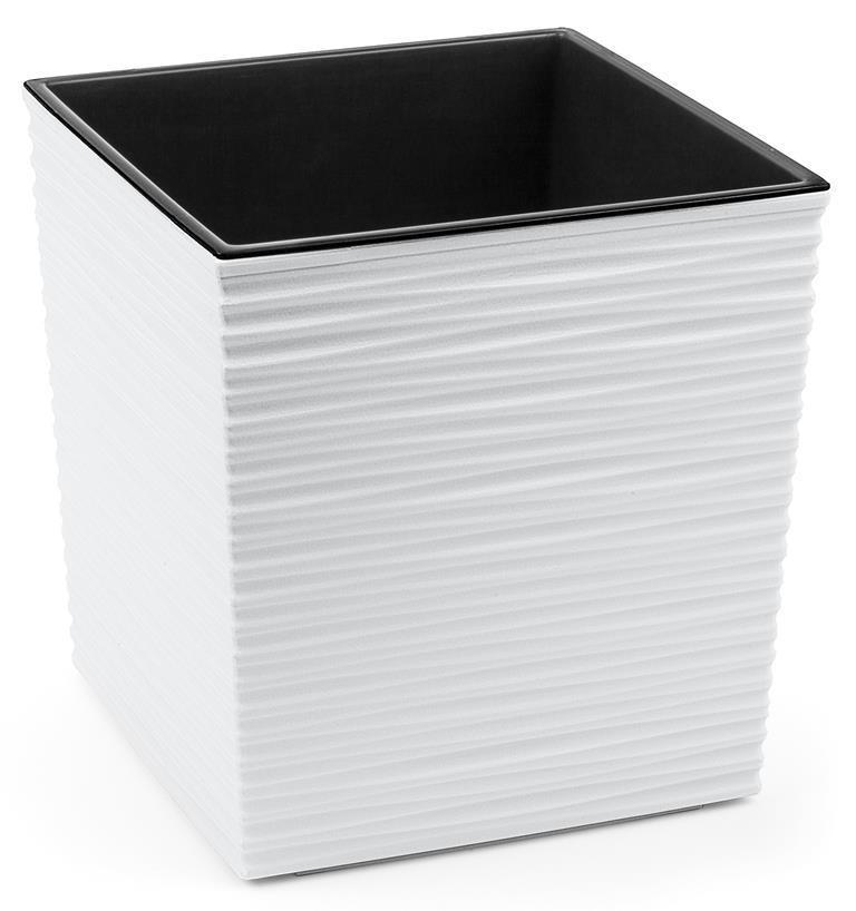 Portavaso vaso Cubo JUKA rigato 30x30xh31cm