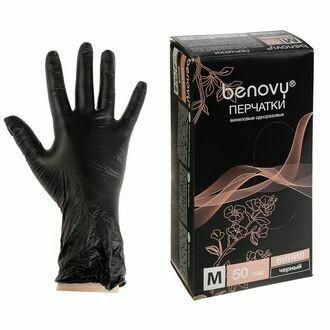 Виниловые перчатки ЧЕРНЫЕ (100 шт)