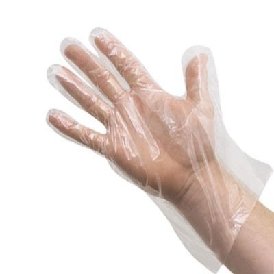 HDPE Transparent Plastic Disposable Gloves (100 pc) (Free-size)