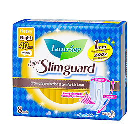 Laurier Super Slimguard Heavy Night with Wings 40cm (8s)
