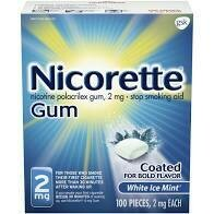 Sell Nicorette Gum 100-120 Piece Box
