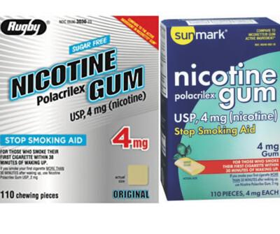Sell Generic Nicotine Gum 100+ Piece Box