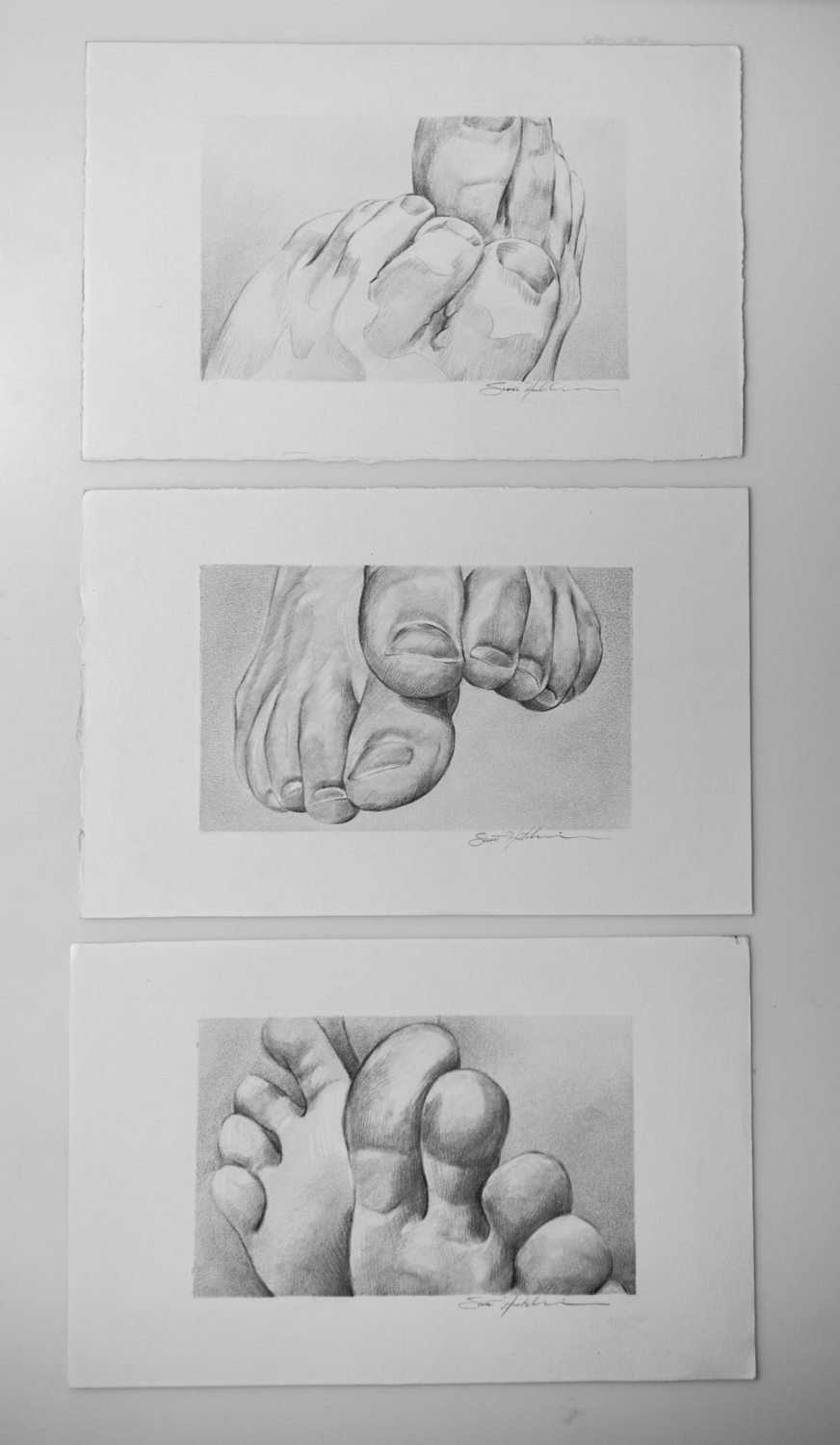 Study of Toes - Drawing