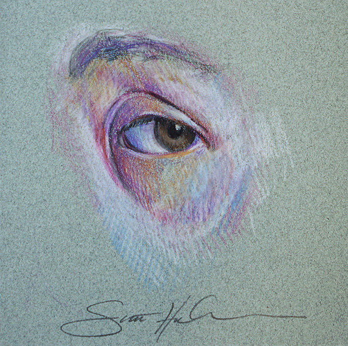 Eyes Opened - Color Pencil Study