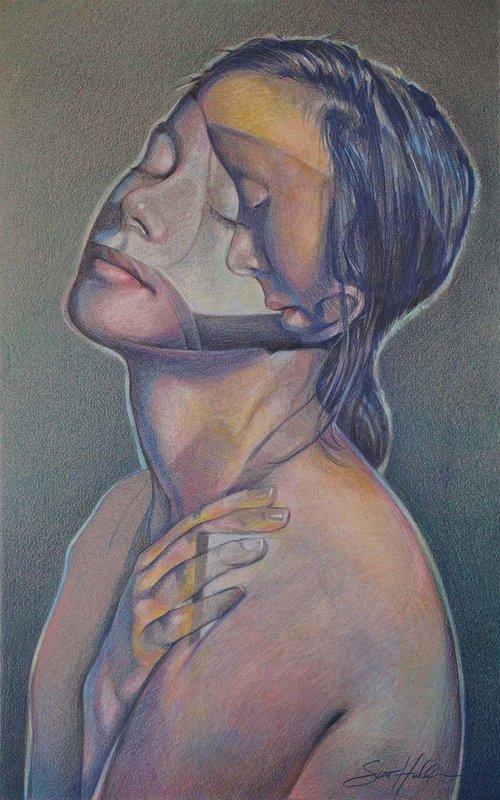 Close Her Eyes So She May See - Drawing