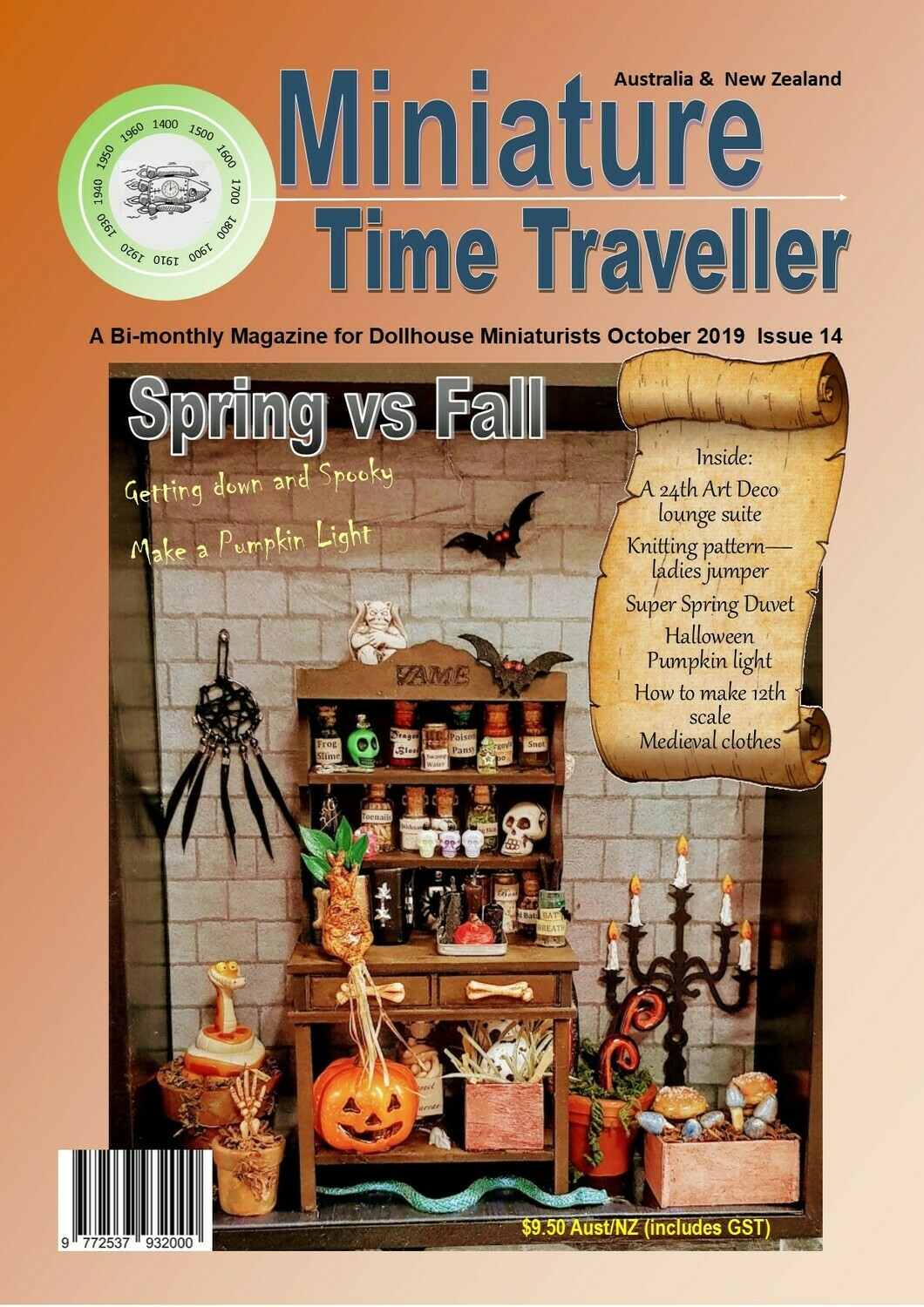 October 2019 - Miniature Time Traveller Magazine - October 2019 - Single Issue only. Postage extra.
