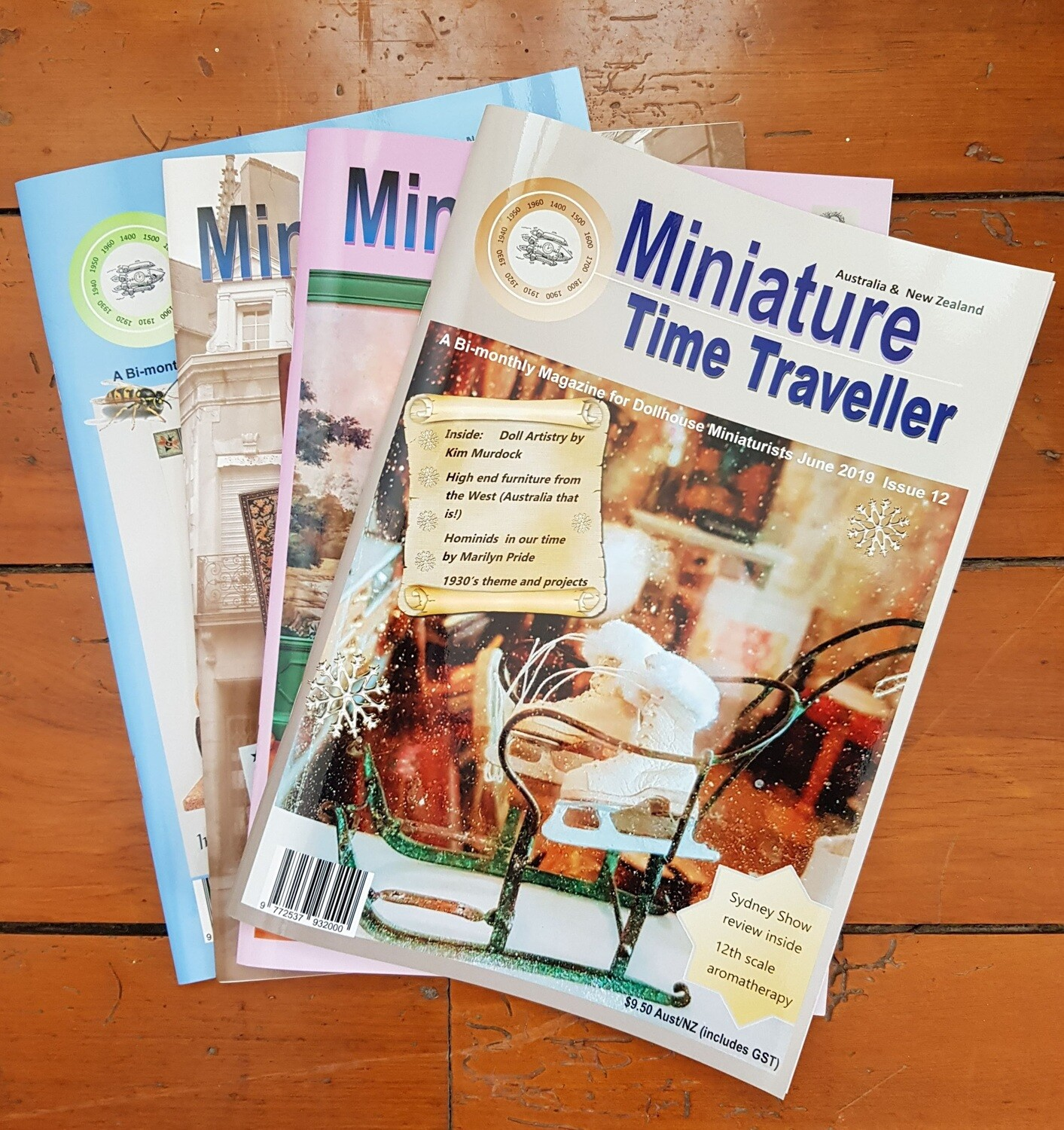 Miniature Time Traveller Magazine Annual Print Subscription - Auto Renew (Post and GST Inc.) $15 each 2 months.