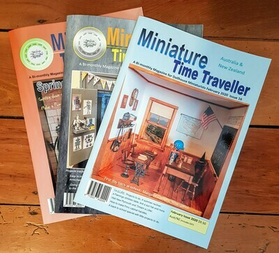Miniature Time Traveller Magazine - SAVE 20% with an Annual subscription - 6 Copies. P&P included. This is listing is for Australia only. See accompanying listings for other countries