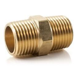 Brass Nipple Hexagon - 1/4