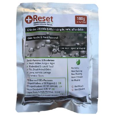 Chlorine Dioxide 100g (Pack of 5 - 20gr Tablets) - Reset Pure