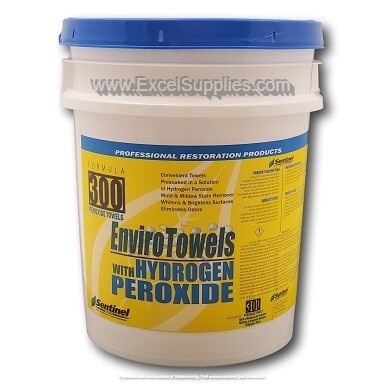 Envirowash 300 Peroxide Cleaning Wipes - 290 Count