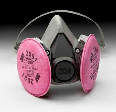 3M™ Half Facepiece 6291 Respirator Assembly - Medium with 2091 Filter