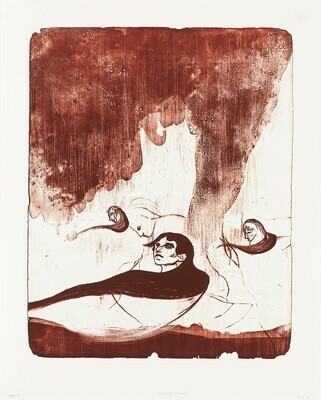 Cradle (Red) - Lithograph