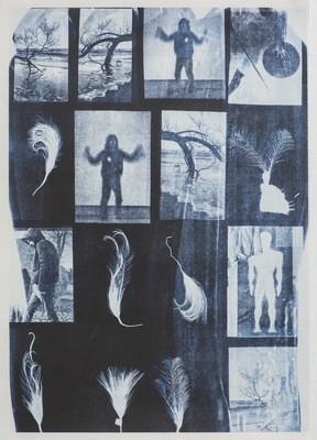 Blå Spor - Riso Print