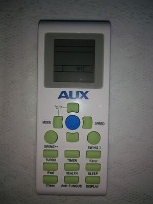 AUX Mini Split Replacement Remote YKR-P002E Model