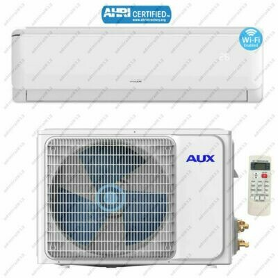 AUX 24000 BTU Mini Split Heat Pump with Inverter Compressor  208/230 Volt  17 SEER with 12 Ft Install Kit (NON WIFI Unit)
