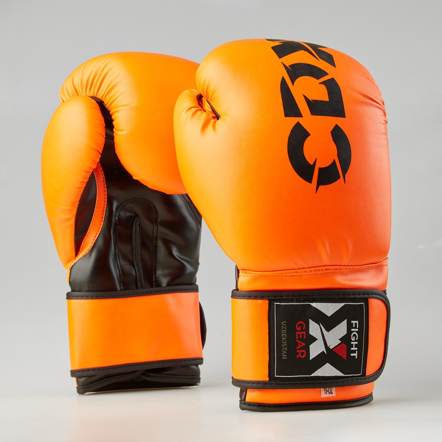 """Boxing gloves artificial leather """"Rexin"""" orange-black"""
