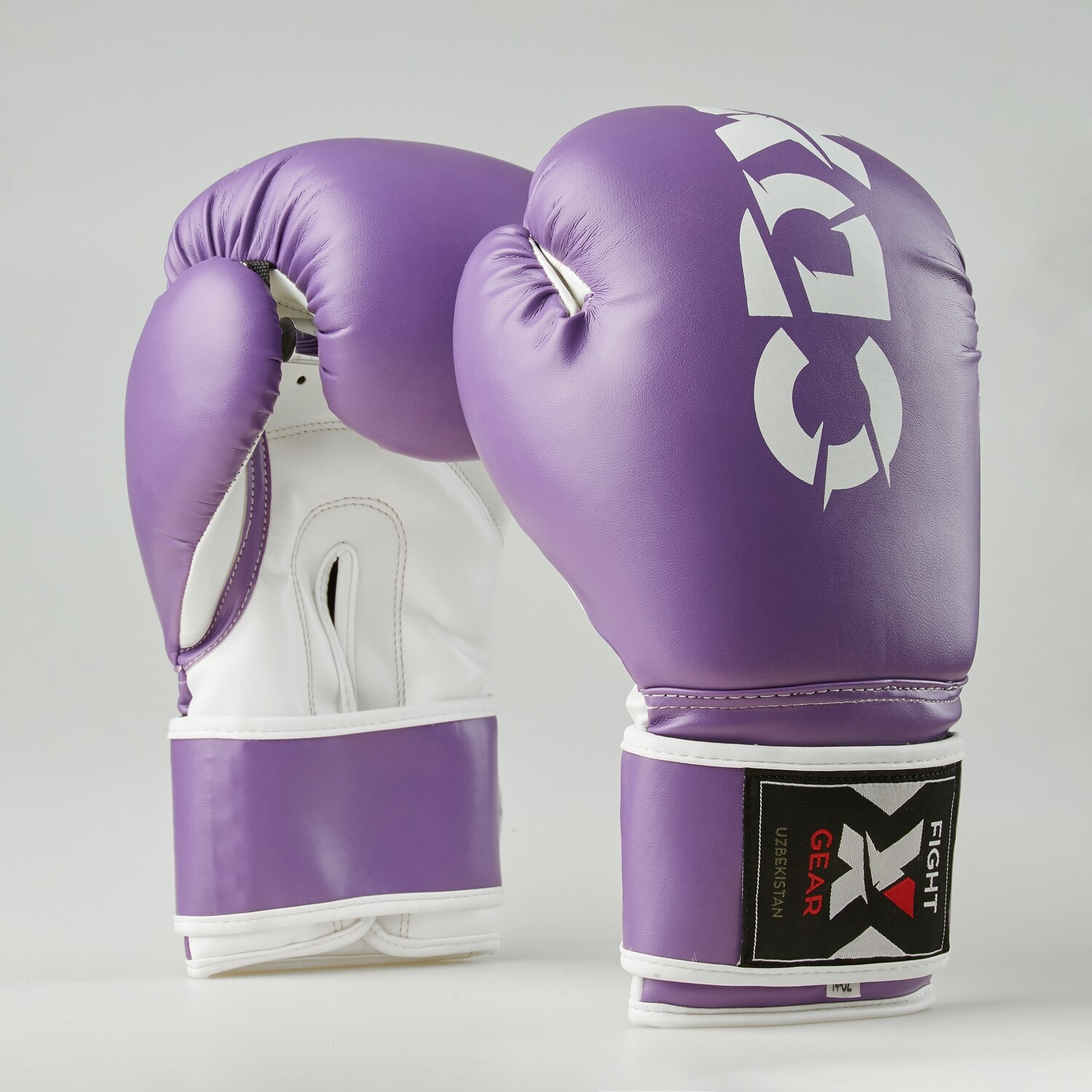 "Boxing gloves artificial leather ""Rexin"" purple-white"
