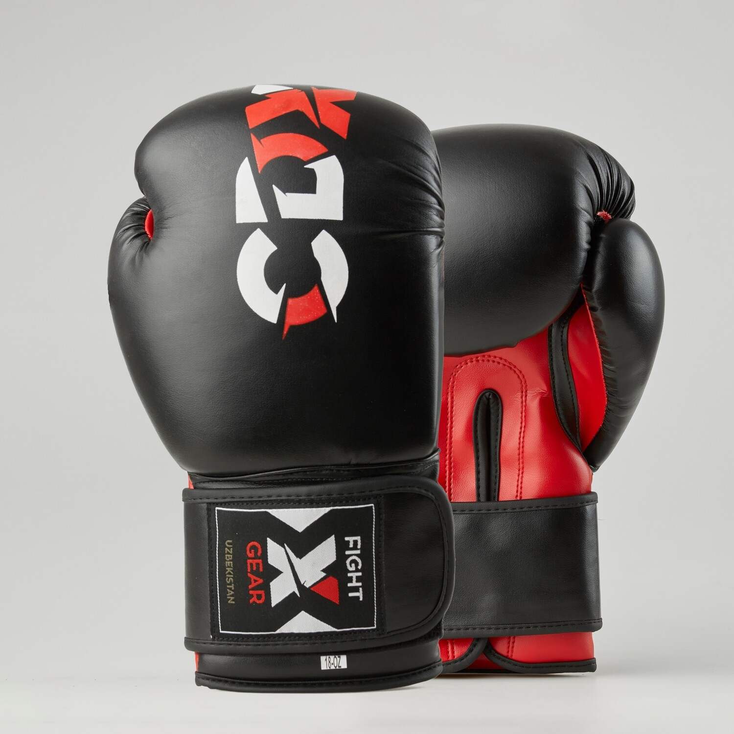 "Boxing gloves artificial leather ""Rexin"" black-red"