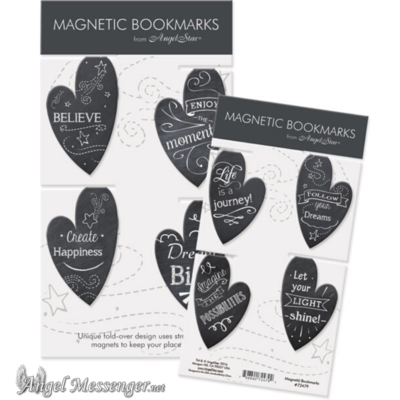 Heart Chalkboard Magnetic Bookmarks