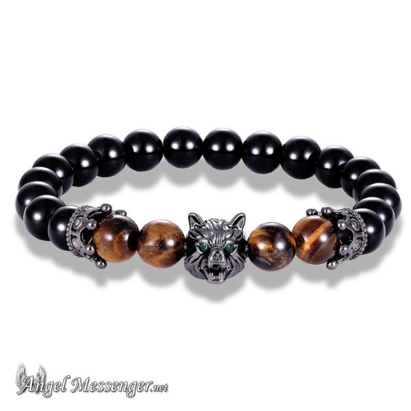 Double Crown Wolf Bracelet