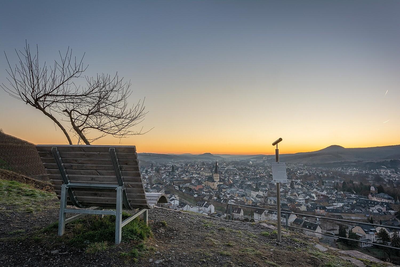 Morgenlicht über Ahrweiler - Leinwand