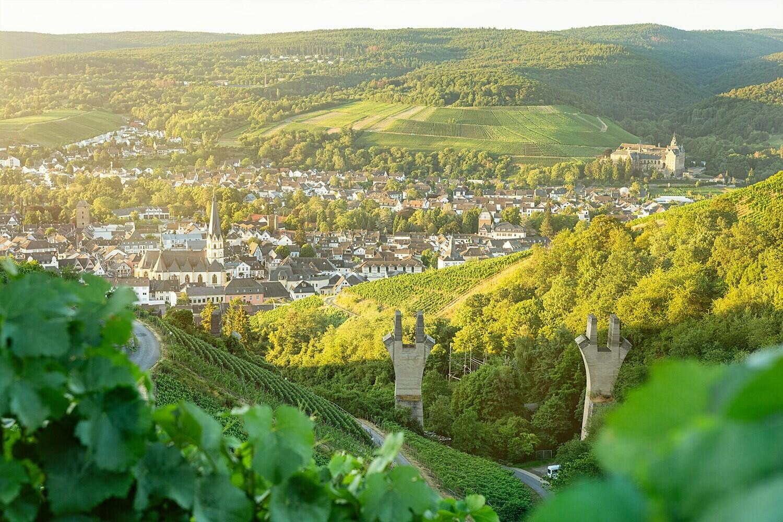 Blick auf Ahrweiler - Leinwand