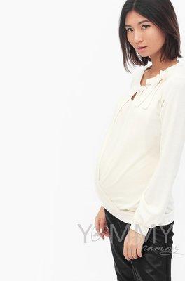 Блуза с бантом экрю