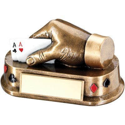BRZ/GOLD/MULTI CARDS HAND TROPHY  -