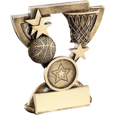 BRZ/GOLD BASKETBALL MINI CUP