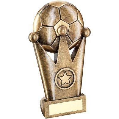 BRZ/GOLD FOOTBALL CROWN FLATBACK TROPHY