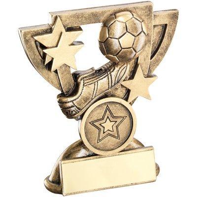 BRZ/GOLD FOOTBALL MINI CUP