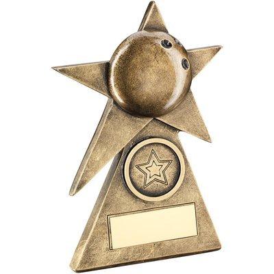 BRZ/GOLD TEN PIN STAR ON PYRAMID BASE