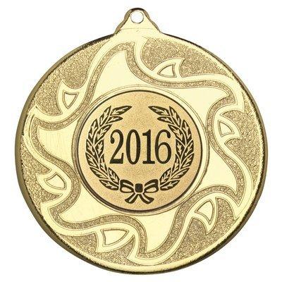 SUNSHINE MEDAL - GOLD (1in CENTRE) 2in