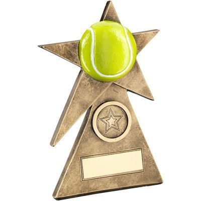 TENNIS STAR ON PYRAMID BASE