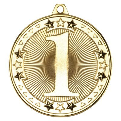 TRI STAR' MEDAL - 1ST GOLD 2in