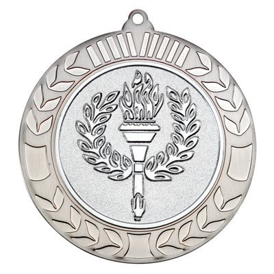 WREATH MEDAL 2.75in - ANTIQUE SILVER (2in CENTRE)