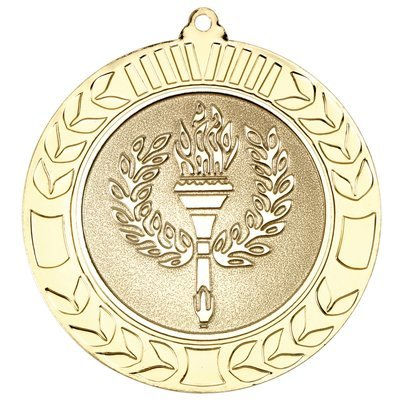 WREATH MEDAL 2.75in - GOLD (2in CENTRE)