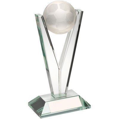 Jade Glass Football Awards (Includes quality presentation box)