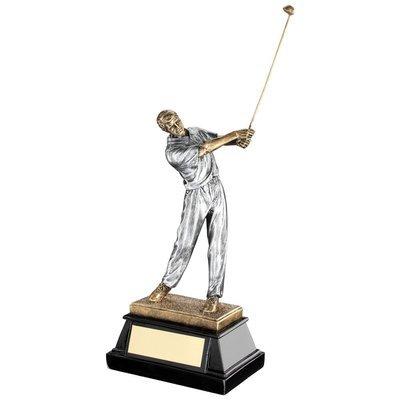 Resin male golfer swing