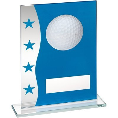 Blue/Silver Glass Golf Award