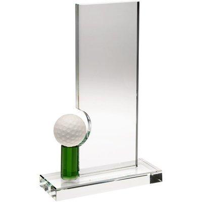 Clear/Green Glass Golf Award