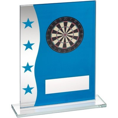Blue/Silver Glass Darts Award