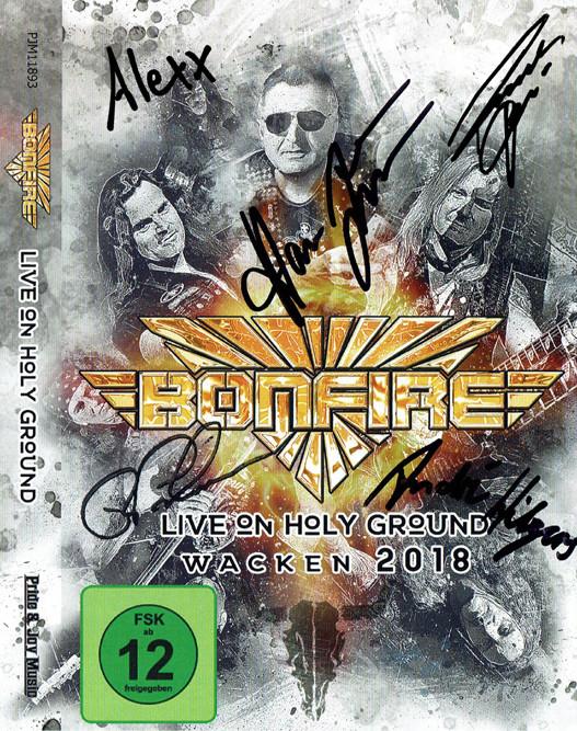 "Bonfire - DVD ""Live On Holy Ground - Wacken 2018"" limited & signed"