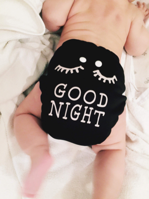 Glow in the Dark Night Nappy-Good Night