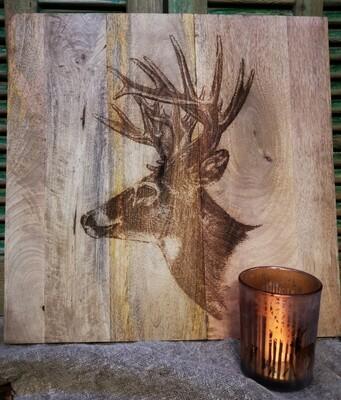 Houten schilderij hert