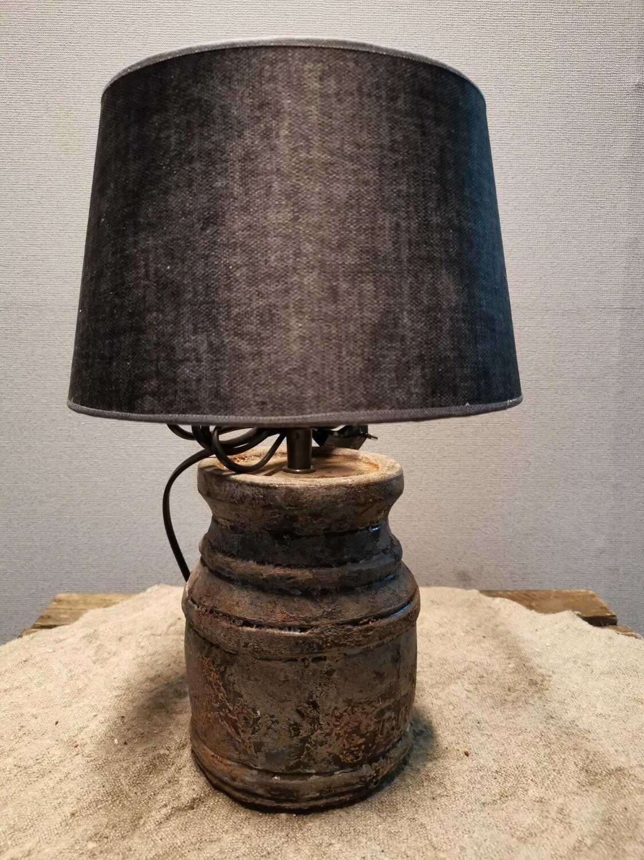 Kastlamp incl grijze suède kap