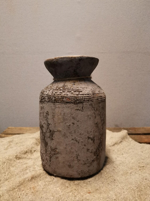 Stenen vaas grijs